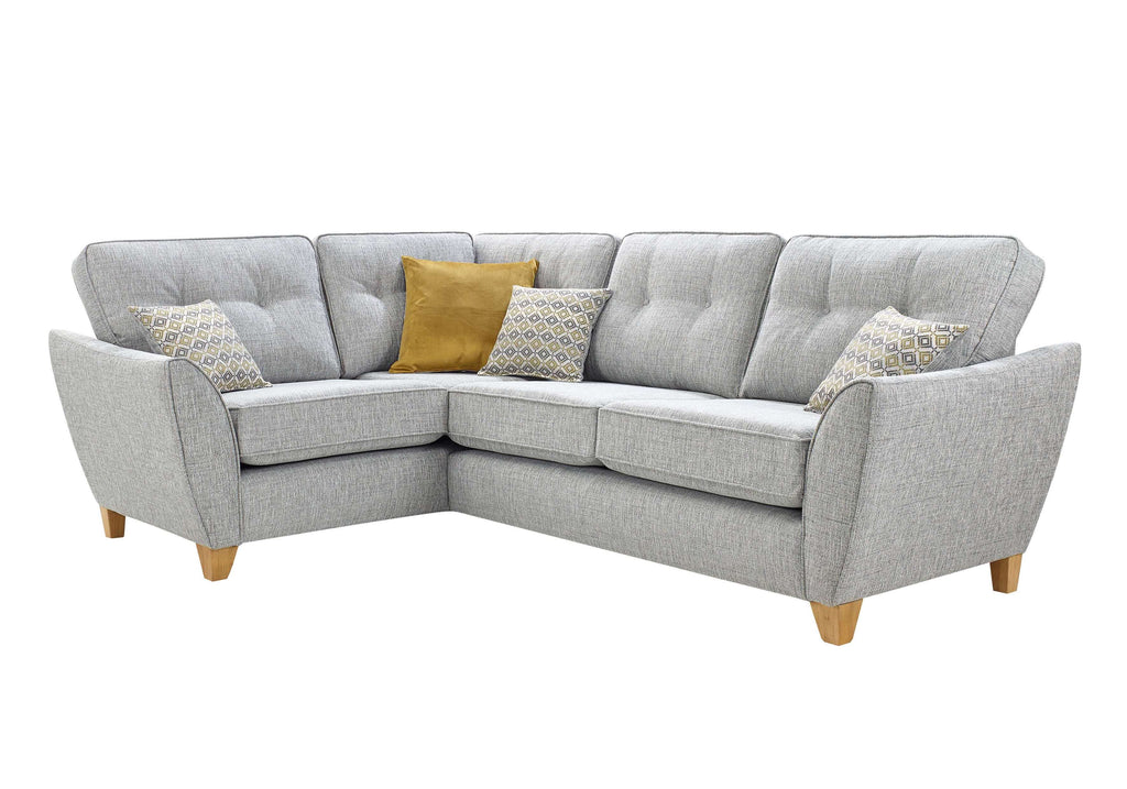 Ashleigh Small 2 Arm Left Hand Formal Back Corner Sofa Corner Sofas- KC Sofas