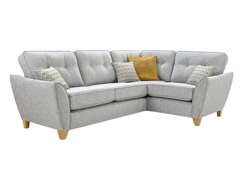 Ashleigh Small 2 Arm Right Hand Formal Back Corner Sofa Corner Sofas- KC Sofas