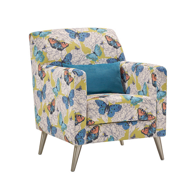Bennett Patterned Accent Chair Accent Chairs- KC Sofas