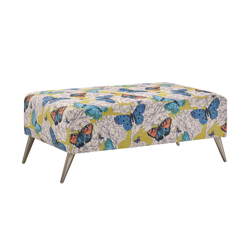 Bennett Patterned Footstool Footstools- KC Sofas