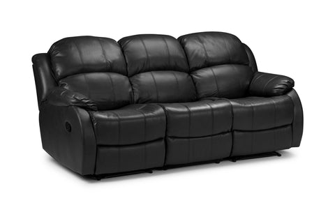 Valetta 3 Seater Electric Reclining Bonded Leather Sofa