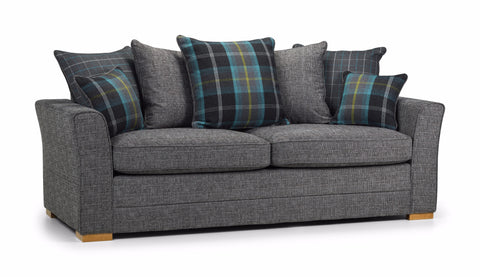 Chilli 3 Seater Pillow Back Sofa 3 Seater Sofas- KC Sofas