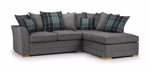 Chilli Right Hand Pillow Back Corner Sofa Corner Sofas- KC Sofas