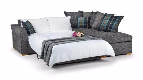 Chilli Right Hand Pillow Back Corner Sofa Bed Corner Sofas- KC Sofas