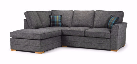 Chilli Left Hand Formal Back Corner Sofa Corner Sofas- KC Sofas