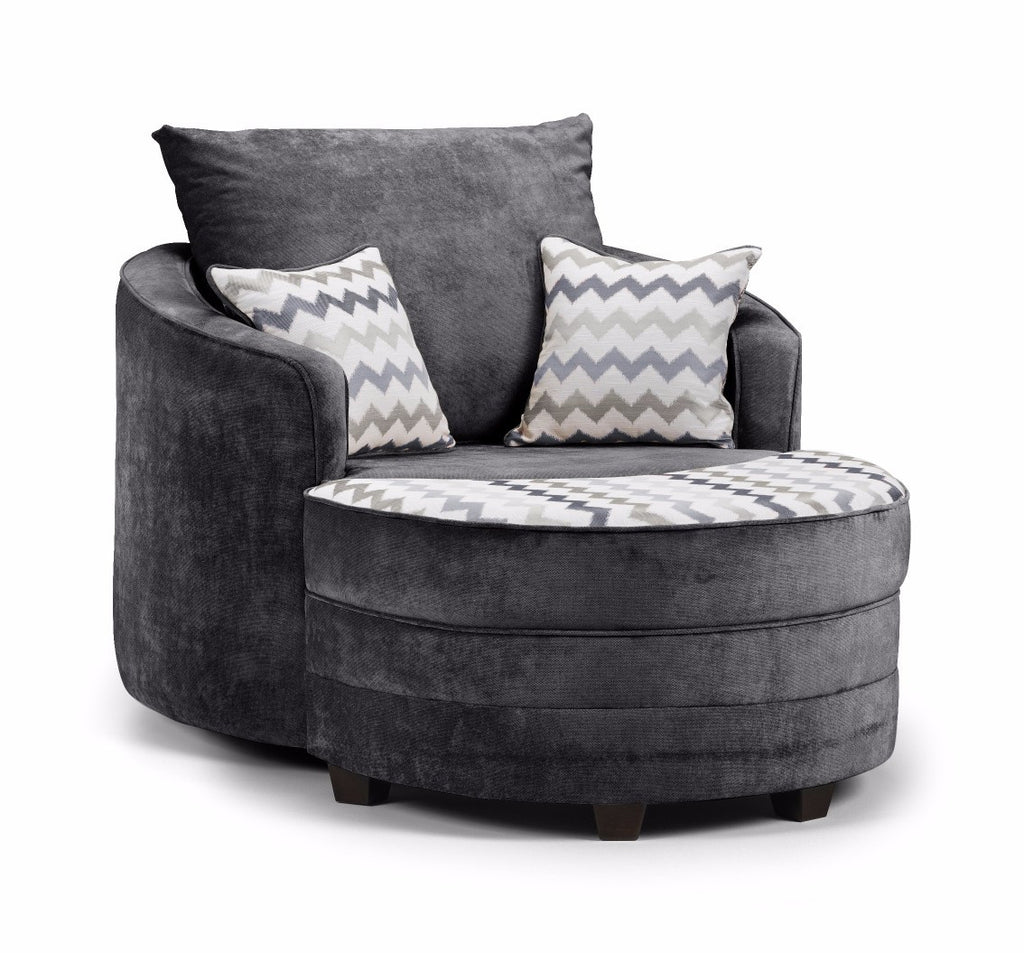 Khloe Swivel Chair & Moonstool Set Swivel Chairs- KC Sofas