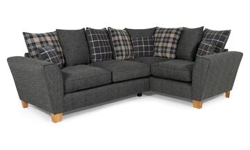 Lucy 2 Arm Right Hand Pillow Back Corner Sofa Corner Sofas- KC Sofas