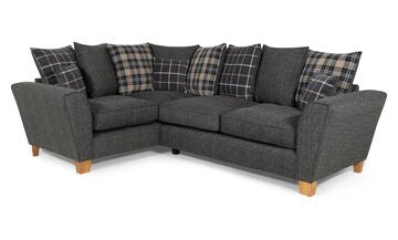 Lucy 2 Arm Left Hand Pillow Back Corner Sofa Corner Sofas- KC Sofas