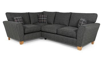 Lucy 2 Arm Left Hand Formal Back Corner Sofa Corner Sofas- KC Sofas
