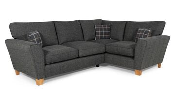 Lucy 2 Arm Right Hand Formal Back Corner Sofa Corner Sofas- KC Sofas