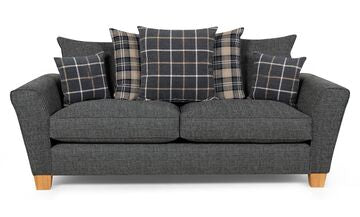 Lucy 3 Seater Pillow Back Sofa 3 Seater Sofas- KC Sofas