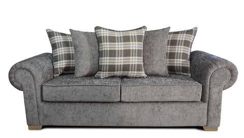 Angelica 3 Seater Pillow Back Sofa 3 Seater Sofas- KC Sofas