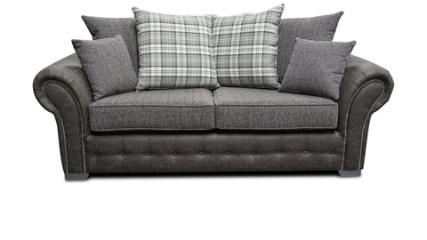Highlander 3 Seater Pillow Back Sofa 3 Seater Sofas- KC Sofas