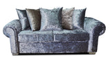Angelica Glitz 3 Seater Pillow Back Sofa 3 Seater Sofas- KC Sofas