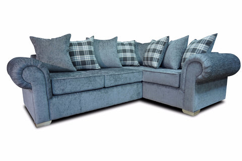 Angelica Right Hand Pillow Back Corner Sofa Corner Sofas- KC Sofas