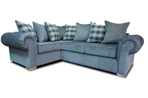 Angelica Left Hand Pillow Back Corner Sofa Corner Sofas- KC Sofas
