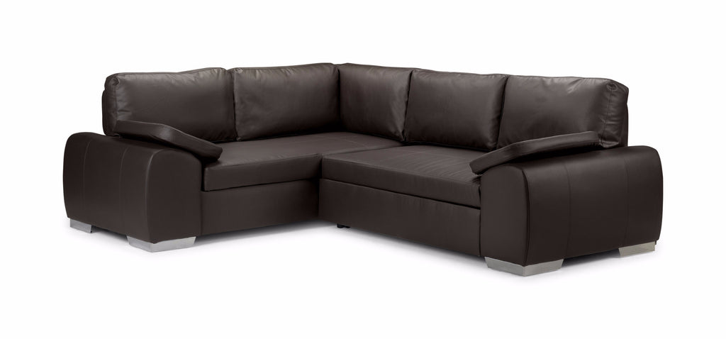 Enzo Left Hand Leather Corner Sofa Bed Sofa Beds- KC Sofas