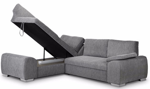 ... Enzo Left Hand Fabric Corner Sofa Bed ...