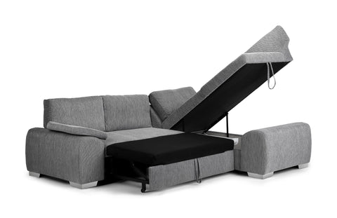 finest selection fd414 76580 Enzo Right Hand Fabric Corner Sofa Bed
