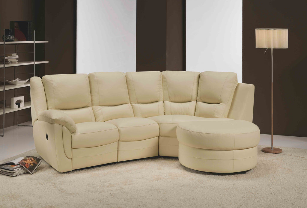 Fedra 3 Seater Maxi Right Hand Chaise Sofa (Including Half-Moon Footstool) Chaise Sofas- KC Sofas
