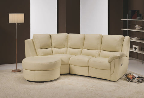 Fedra 3 Seater Maxi Left Hand Chaise Sofa (Including Half-Moon Footstool) Chaise Sofas- KC Sofas