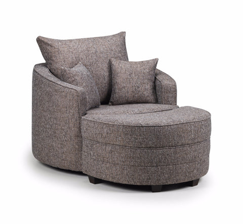 Miami Swivel Chair & Moonstool Set Swivel Chairs- KC Sofas