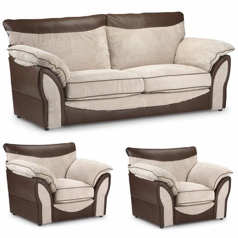 Malta 3 Seater & 2 Chairs Sofa Set