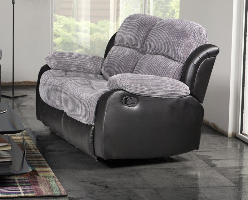 Valetta 2 Seater Manual Reclining Fabric Sofa Kc Sofas