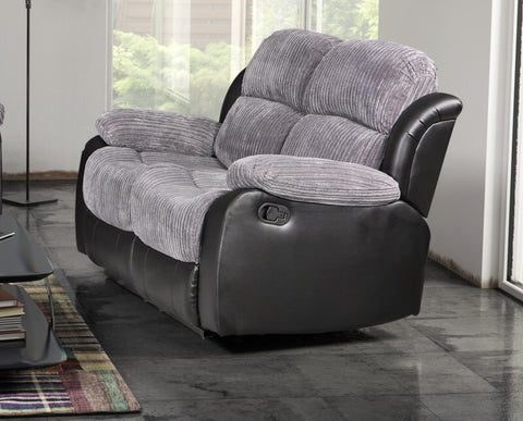 Valetta 2 Seater Manual Reclining Fabric Sofa