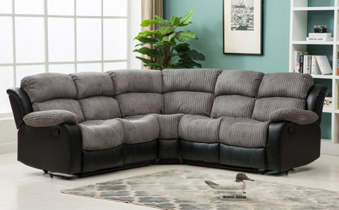 Valetta Manual Reclining Fabric Corner Sofa