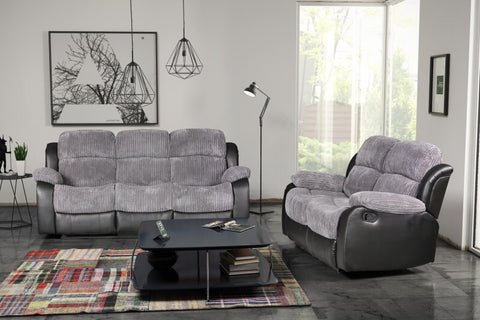 Valetta 3 Seater & 2 Seater Manual Reclining Fabric Sofa Set