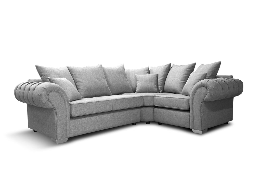 Chelsea Right Hand 2A1 Pillow Back Corner Sofa Corner Sofas- KC Sofas