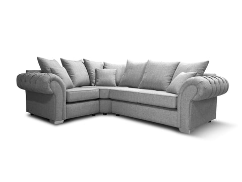 Chelsea Left Hand 1A2 Pillow Back Corner Sofa Corner Sofas- KC Sofas