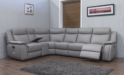 Infiniti 1C3/Left Hand Manual Reclining Corner Sofa With Console Corner Sofas- KC Sofas