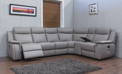 Infiniti 3C1/Right Hand Manual Reclining Corner Sofa With Console Corner Sofas- KC Sofas