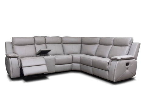 Infiniti 2C2 Manual Reclining Corner Sofa With Console Corner Sofas- KC Sofas