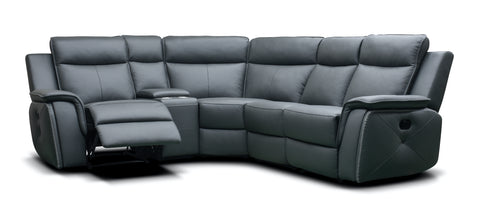 Infiniti 1C2/Left Hand Manual Reclining Corner Sofa With Console Corner Sofas- KC Sofas