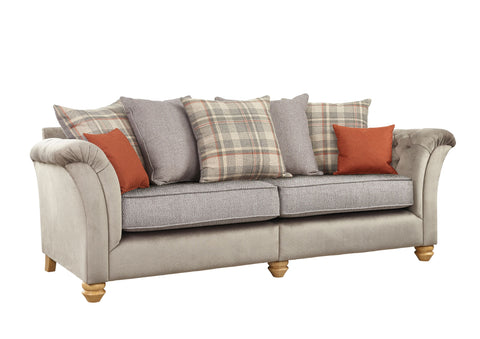 Ingles 4 Seater Pillow Back Sofa 4 Seater Sofas- KC Sofas