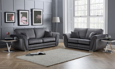 Luxe 3 Seater & 2 Seater Formal Back Sofa Set