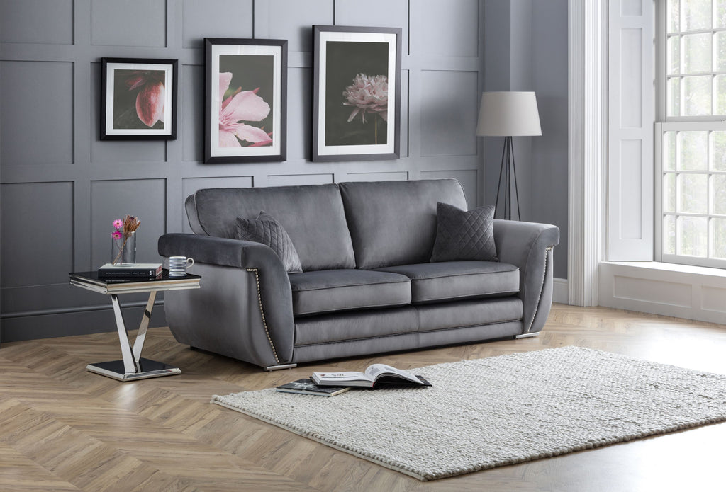 Luxe 3 Seater Formal Back Sofa