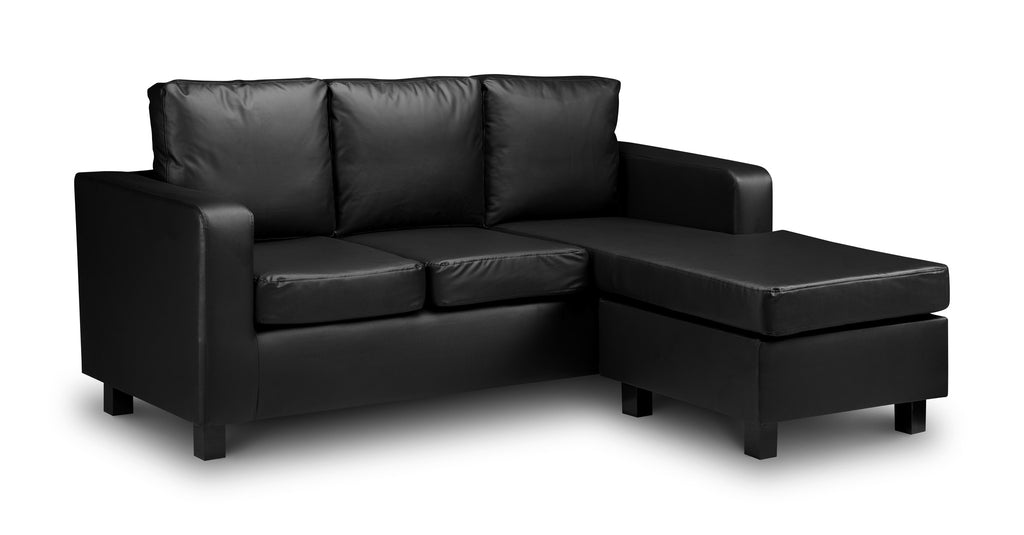 Matthew 3 Seater Faux Leather Chaise Sofa