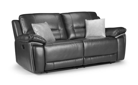 Harry Manual Leather Air 3 Seater Reclining Sofa