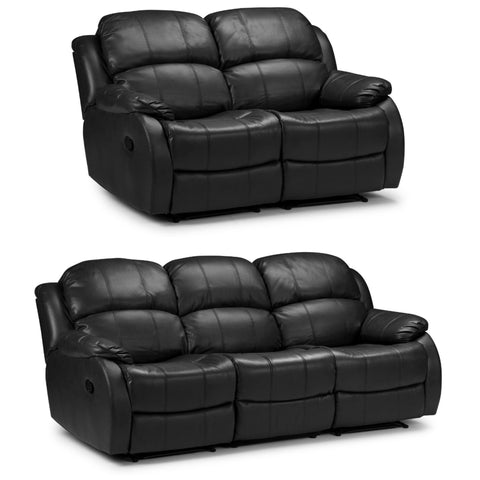 Valetta 3 Seater & 2 Seater Electric Reclining Bonded Leather Sofa Set