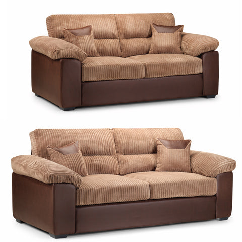 Hollow 3 Seater & 2 Seater Sofa Set