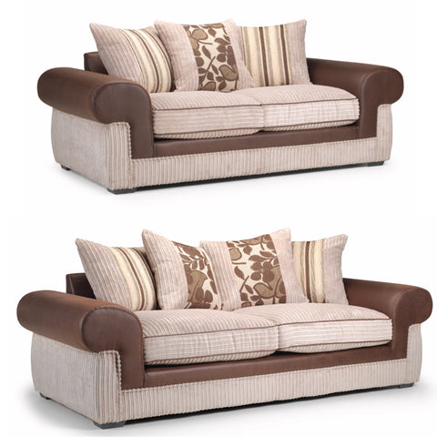 Sienna 3 Seater & 2 Seater Sofa Set