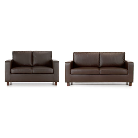 Maxwell 3 Seater & 2 Seater Faux Leather Sofa Set