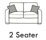 Manhattan 2 Seater Formal Back Sofa 2 Seater Sofas- KC Sofas