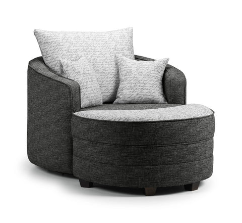 Seattle Swivel Chair & Moonstool Set Swivel Chairs- KC Sofas