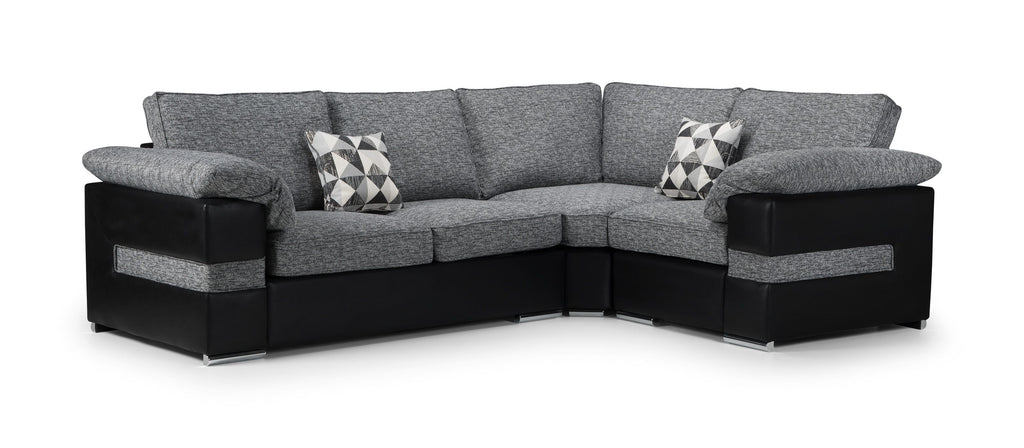 Serene Right Hand Formal Back Corner Sofa Corner Sofas- KC Sofas