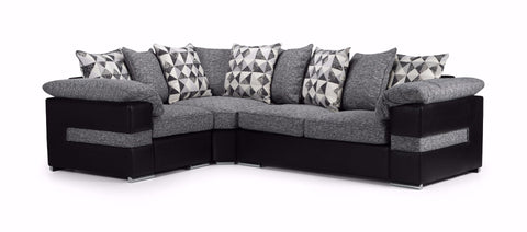 Serene Left Hand Pillow Back Corner Sofa Corner Sofas- KC Sofas